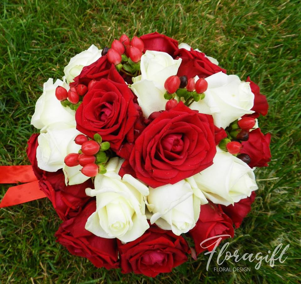 Buchet Mireasa Rosualb B123 Floragift